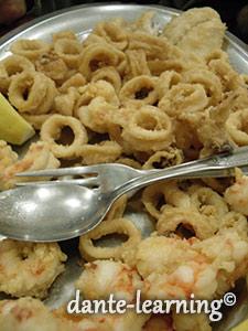 魚介類のフリット frutti di mare