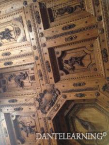 木製解剖学室の天井